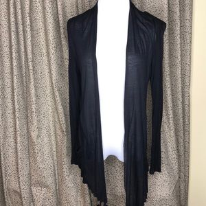 Ambiance Sheer black cardigan small
